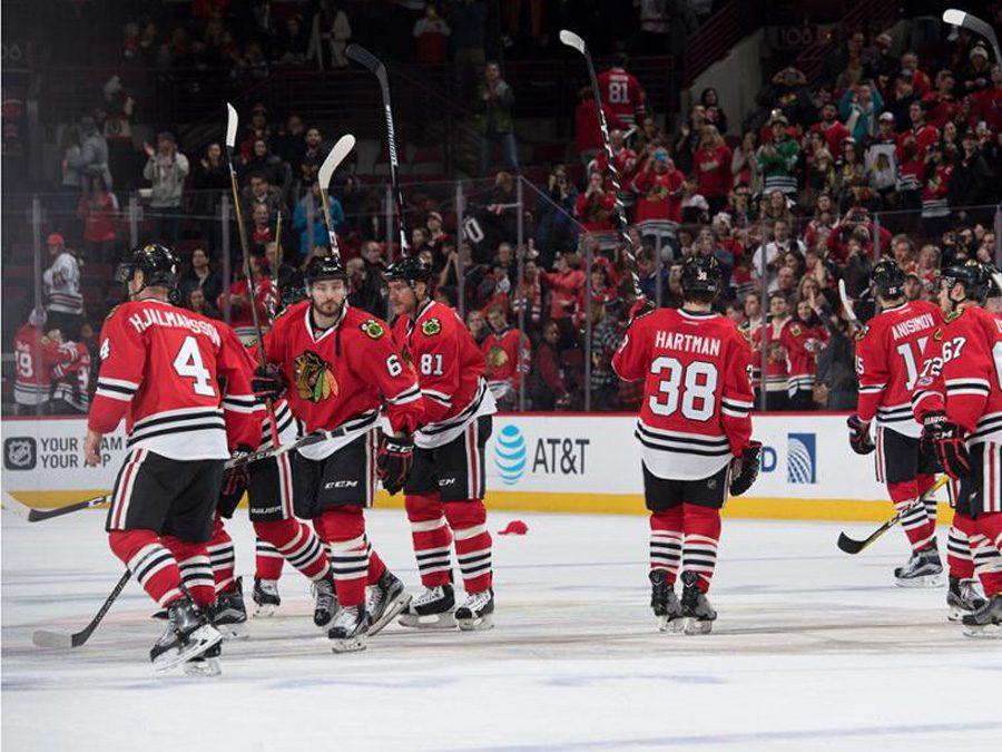 jogo-chicago-Blackhawks-hoquei-chicago-bulls
